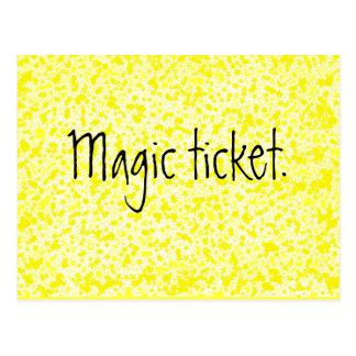 Boleto mágico - recurso del profesor postal