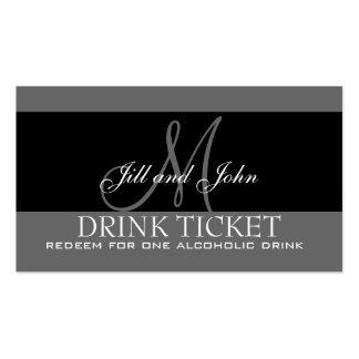 Boleto personalizado de la bebida para la tarjetas de visita