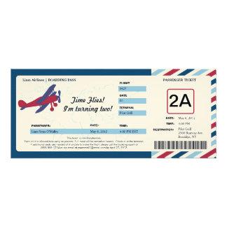 Boleto plano del documento de embarque del cumplea comunicados