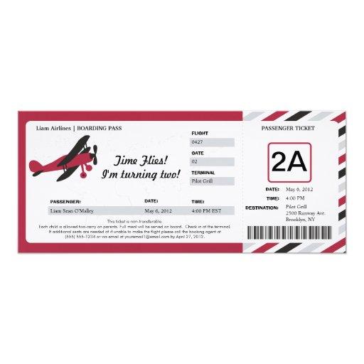 Boleto plano del documento de embarque del anuncios personalizados