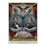 Boleto presidencial republicano 1864 posters