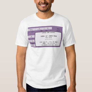 boleto púrpura del concierto poleras