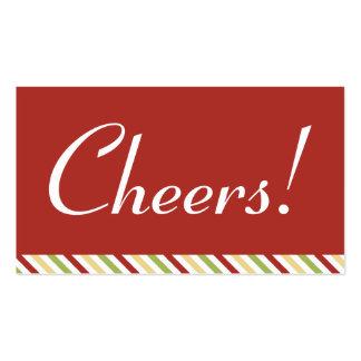 Boleto rojo de la bebida de la celebración de días tarjetas de visita