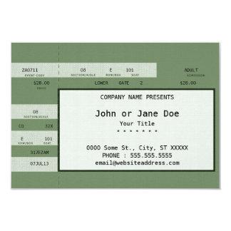 boleto verde del concierto invitacion personal