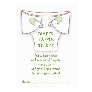 Boleto verde lindo de la rifa de la fiesta de tarjetas de visita grandes