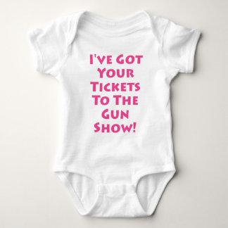 ¡Boletos a la demostración de arma! Body Para Bebé