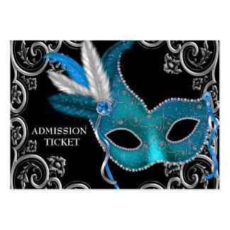 Boletos azules de la admisión del fiesta de la mas tarjetas de visita grandes