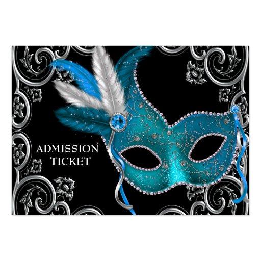 Boletos azules de la admisión del fiesta de la mas plantilla de tarjeta personal