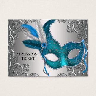 Boletos azules de la admisión del fiesta de la tarjetas de visita grandes
