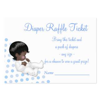 Boletos azules de la rifa del pañal del bebé plantilla de tarjeta personal