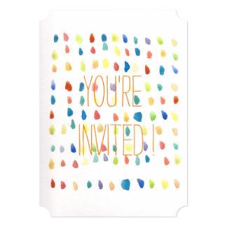Boletos coloridos de la invitación de la acuarela