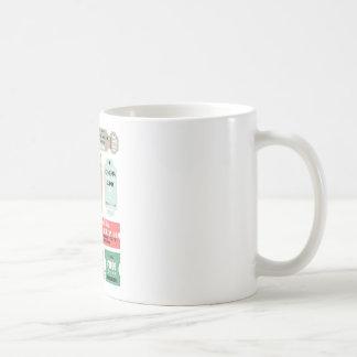 Boletos de la admisión de la película taza de café
