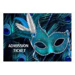 Boletos de la admisión del fiesta de la mascarada  plantilla de tarjeta de negocio