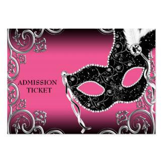 Boletos de la admisión del fiesta de la mascarada  tarjeta de visita
