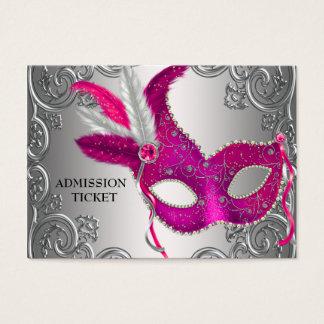 Boletos de la admisión del fiesta de la mascarada tarjetas de visita grandes