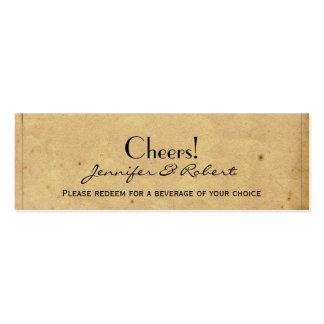 Boletos de la bebida del boda del pájaro de tarjetas de visita mini