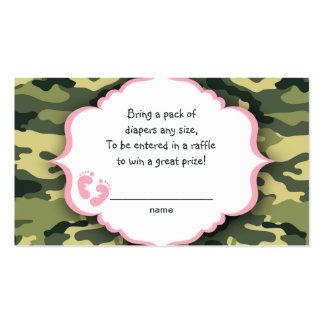 Boletos de la rifa de Camo o tarjetas rosados y Tarjetas De Visita
