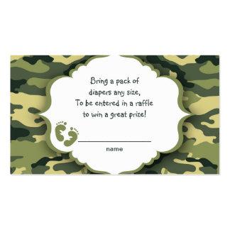 Boletos de la rifa de Camo o tarjetas verdes del Tarjetas De Visita