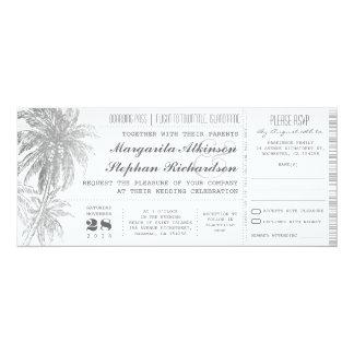 """boletos del boda del destino invitación 4"""" x 9.25"""""""