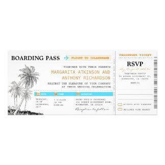 boletos del boda del documento de embarque con RSV Comunicados Personales