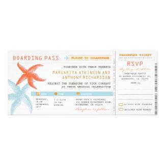 boletos del boda del documento de embarque con RSV Comunicado