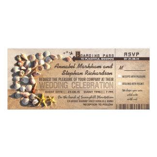 boletos del documento de embarque del boda de play comunicados personalizados