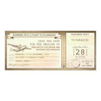 """boletos del documento de embarque - reserva del invitación 4"""" x 9.25"""""""