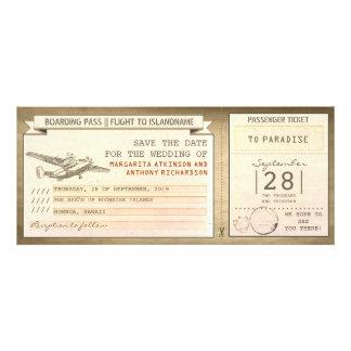 boletos del documento de embarque - reserva del vi comunicados personalizados
