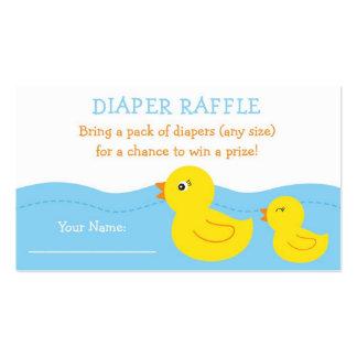 Boletos Ducky de goma de la rifa del pañal Tarjetas De Visita