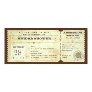 boletos nupciales de la ducha de la tipografía del comunicados personalizados