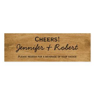 Boletos rústicos de la bebida del boda del lirio d tarjetas de visita