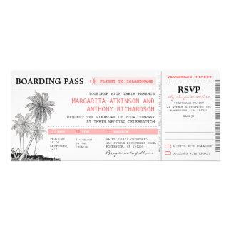 boletos tropicales del boda del documento de embar comunicados personales