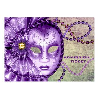 Boletos verdes púrpuras de la admisión del fiesta  tarjetas de visita