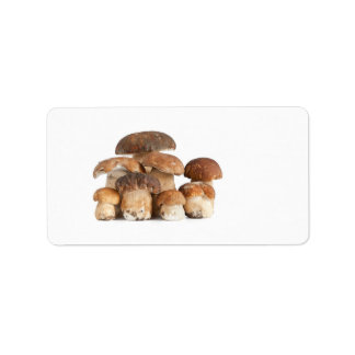 Boletus mushroom address label