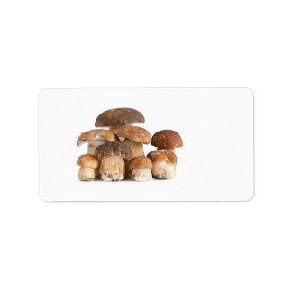 Boletus mushroom custom address label