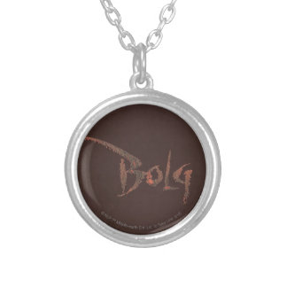 Bolg Name Round Pendant Necklace