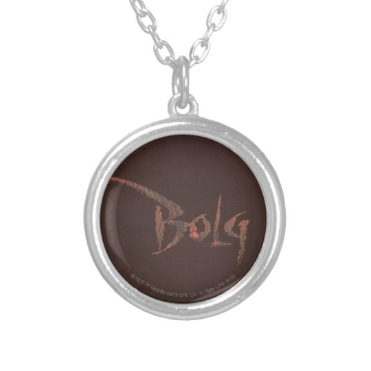 Bolg Name Silver Plated Necklace
