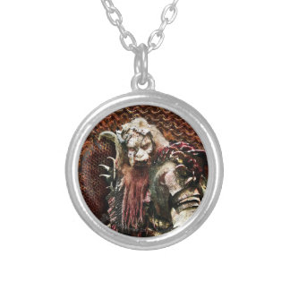 Bolg Round Pendant Necklace