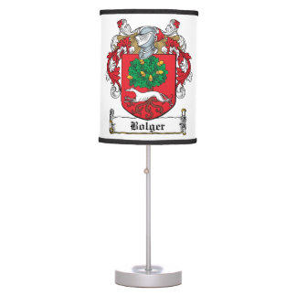 Bolger Family Crest Desk Lamps