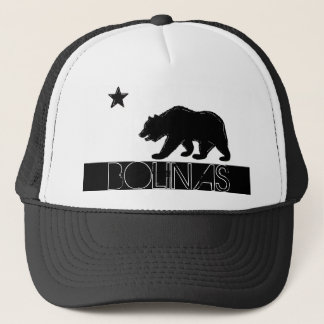 Bolinas California black white bear flag hat