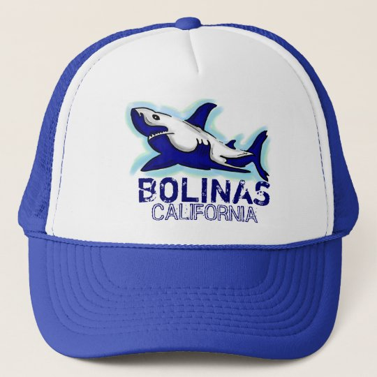 c7bbcfc24c2 Bolinas California blue shark theme hat