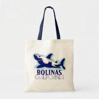 282800b7b7a Bolinas California blue shark theme souvenir bag