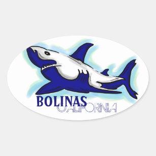 01ac9ed151e Bolinas California blue shark theme stickers
