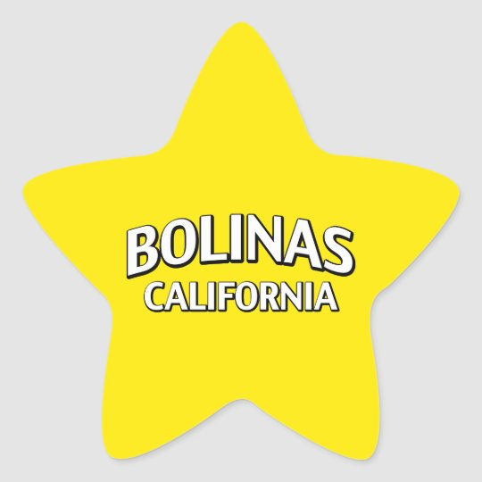 Bolinas California Star Sticker