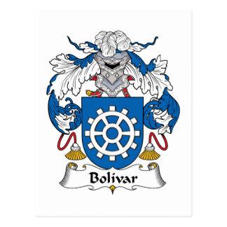Bolivar Family Crest Postcard