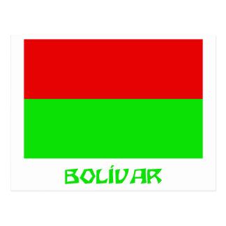 Bolívar flag with Name Postcard