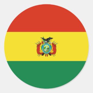 Bolivia/bandera boliviana pegatinas redondas