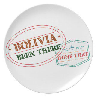 Bolivia Been There Done That Plate