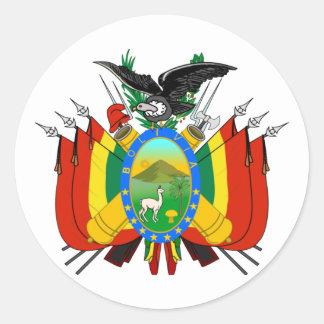 Bolivia COA Classic Round Sticker