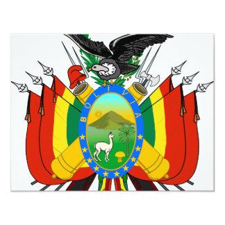 Bolivia coat of arms card